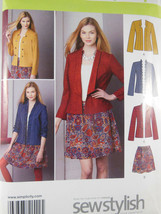 Simplicity 1542 Sew Stylish Misses Jacket & Skirt Pattern UNCUT Size 4 6... - $5.19