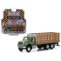 2018 International WorkStar Platform Stake Truck with Wood Effect S.D. T... - $25.50
