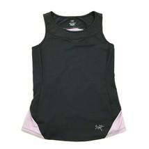 ARC'TERYX Women's Tank Top Black Sleeveless Lavender Accent Size M Fitte... - $16.47