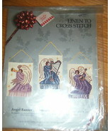 Something Special linen to cross stitch Angel Banner ornament kit NEW - $9.89