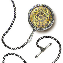 """English Pewter Steampunk Decorative Eye Monocle  with 20"""" Long Curbed Chain - $49.45"""