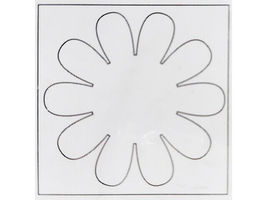 Creative Imaginations Blank Chipboard Blooms d-mensions, 3 Sheets & 24 Foam Dots image 4