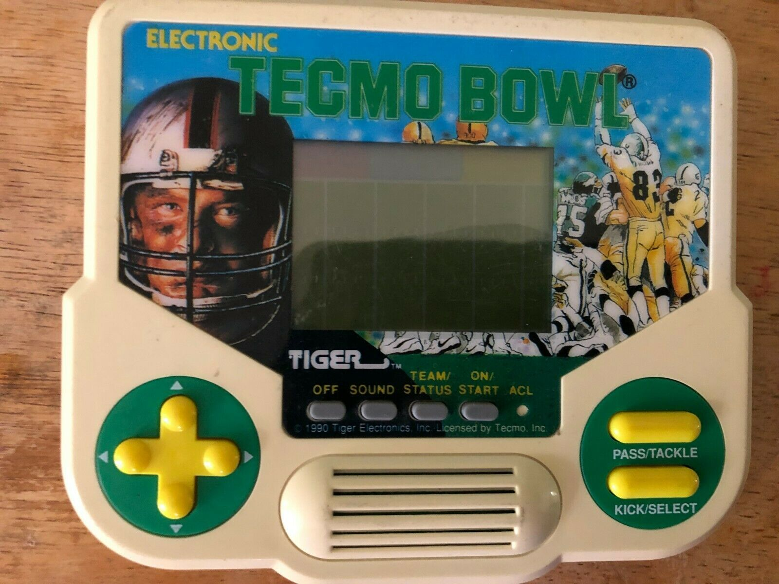 Tecmo Bowl Electronic. Tiger. Handheld Game. tester works great 1988