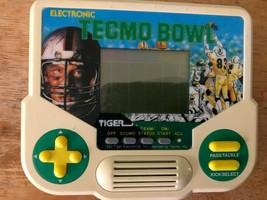 Tecmo Bowl Electronic. Tiger. Handheld Game. tester works great 1988 - $14.84