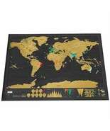 Travel Scratch Off World Map Big Poster Personalized Journal Country Hom... - $13.85+