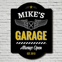 Always Open Personalized Garage Sign - $49.95 - $79.95