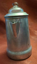 "Antique 1920'S Viko Aluminum Coffee Pot W/ Wooden Handle 6"" Tall image 10"