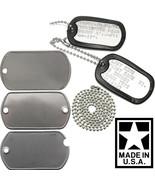 Custom Printed Dog Tags Personalized Military GI Army ID Dogtags Set Mad... - $5.99+