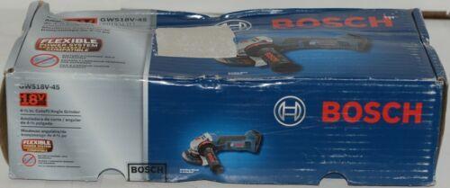 BOSCH GWS18V 45 Cutoff Angle Grinder 18V Blue Package 1