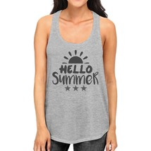 Hello Summer Sun Womens Grey Tank Top - $14.99