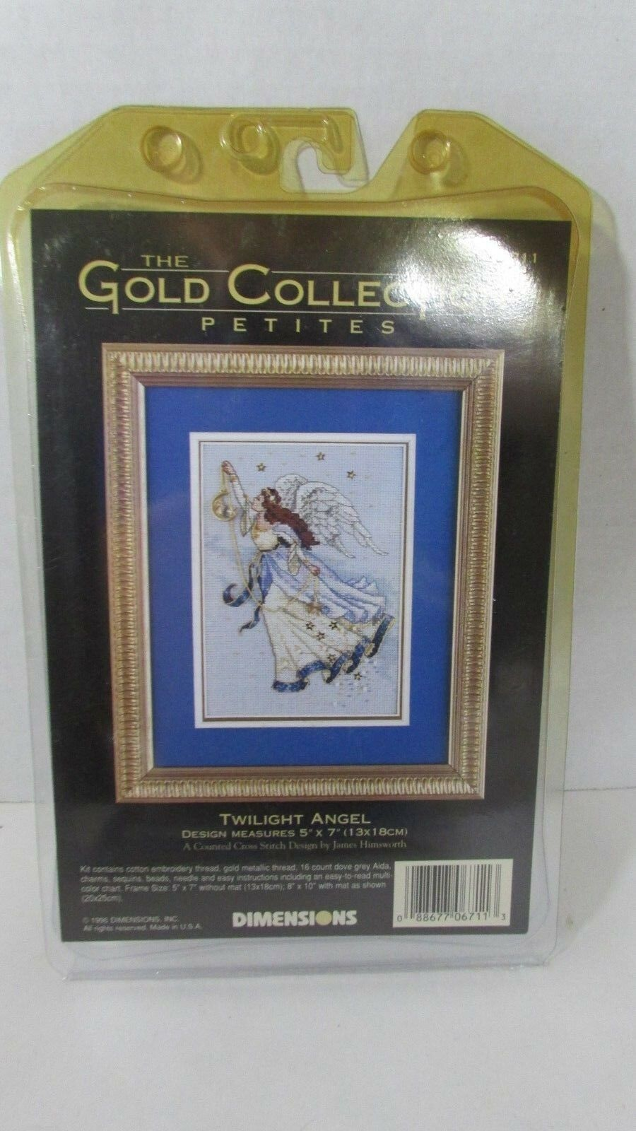Counted Cross Stitch Kit TWILIGHT ANGEL Dimensions Gold Collection