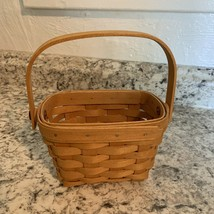 "LONGABERGER small Basket~ american Cancer Society 4"" - $15.79"