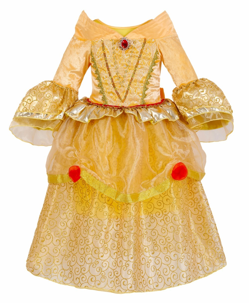 Beauty and beast cosplay dresses for girls belle princess kids girls costume dress christmas  1