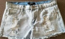 Forever 21, Women's Size 28 Waist, Distressed, 100% Cotton, J EAN Shorts - $13.50