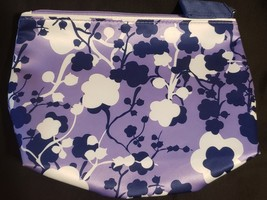 Purple Flower Estee Lauder Cosmetic Bag Gently Used - $5.00
