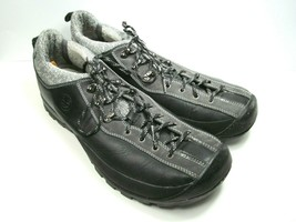Timberland Smartwool Mens Black Leather Hiking Shoes Lace Up Size US 15 ... - £45.91 GBP