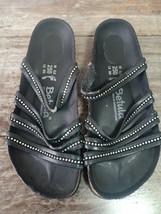 Used BIRKENSTOCK Betula Black Strap Women Sandal Sz 39 L8 M6 Summer  - $24.70