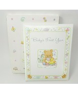 VINTAGE 1983 HALLMARK BABY'S FIRST YEAR ANNOUNCEMENT BOOK BLANK PAGES BA... - $43.53