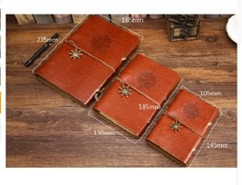 Vintage Leather Cover Blank Diary Pirate Design Paper Note Book Replaceable - $5.94+