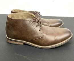 Deer Stags Men's Vegan Leather Chakka Boots Memory Foam James 2 Brown Sz... - $21.78