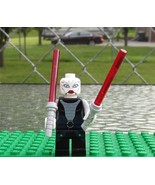 LEGO 7957 STAR WARS Asajj Ventress  Minifig with 2 Red Light Sabers Doub... - $14.00