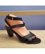 LAUREN Ralph Lauren Women's Size 9 Black Leather Sandals - $34.64