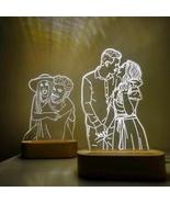 Customized 3D Night Light 3 Colors USB Photo Text Custom DIY Lamps For ... - $40.65