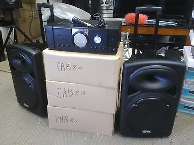 Open Box 2500 watt Technical Pro DJ system Amplifer,2 Speakers, Microphone.