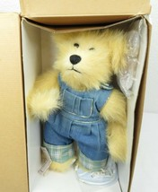 DAVEY Gallery Teddy Bears Plush Doll With Stand & Box 1998 Ashton Drake... - $30.00