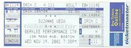 Rare SUZANNE VEGA 11/14/01 Boston MA Berklee Performance Ctr Concert Tic... - $2.96