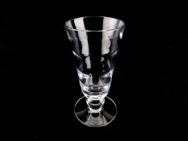 """Tiffin 8.75"""" Optic Vase, Heavy 1/8"""" Crystal Clear Glass with Ball Stem, 4"""" Top - $34.25"""