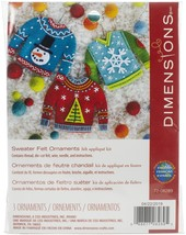Dimensions Felt Ornament Applique Kit Set Of 3-Sweater - $44.57