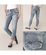 Womens Silver Jeans Mid Rise Kenni Skinny Girlfriend Zip Jean 27 28 31 3... - $49.97+