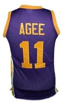 Hoop Dreams Movie Arthur Agee Basketball Jersey Sewn Purple Any Size image 2