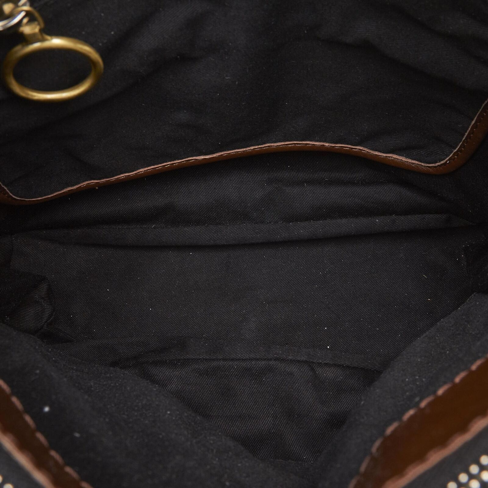 Pre-Loved Chloe Brown Dark Others Leather Betty Tote Bag Italy