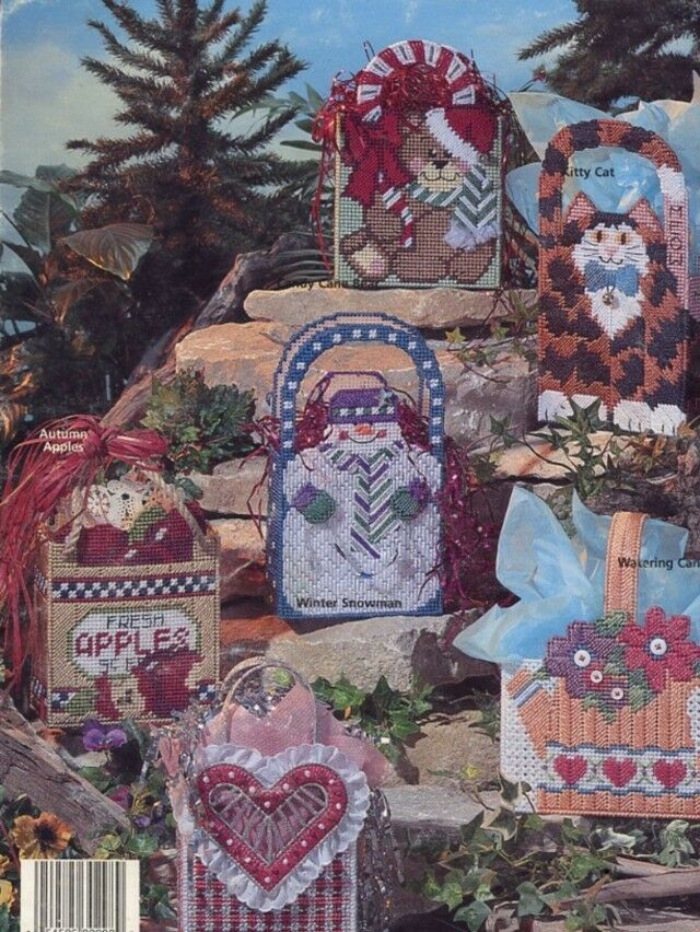 Nifty Gift Totes 12 Designs Plastic Canvas PATTERN/INSTRUCTIONS