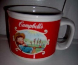 2002 Campbells  Soup Mug with Handle # 3188 Two Scenes Houston Harvest G... - $11.99