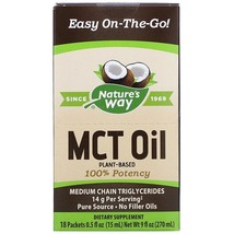 Nature's Way, MCT Oil, 18 Packets, 0.5 fl oz (15 ml) Each - $36.12