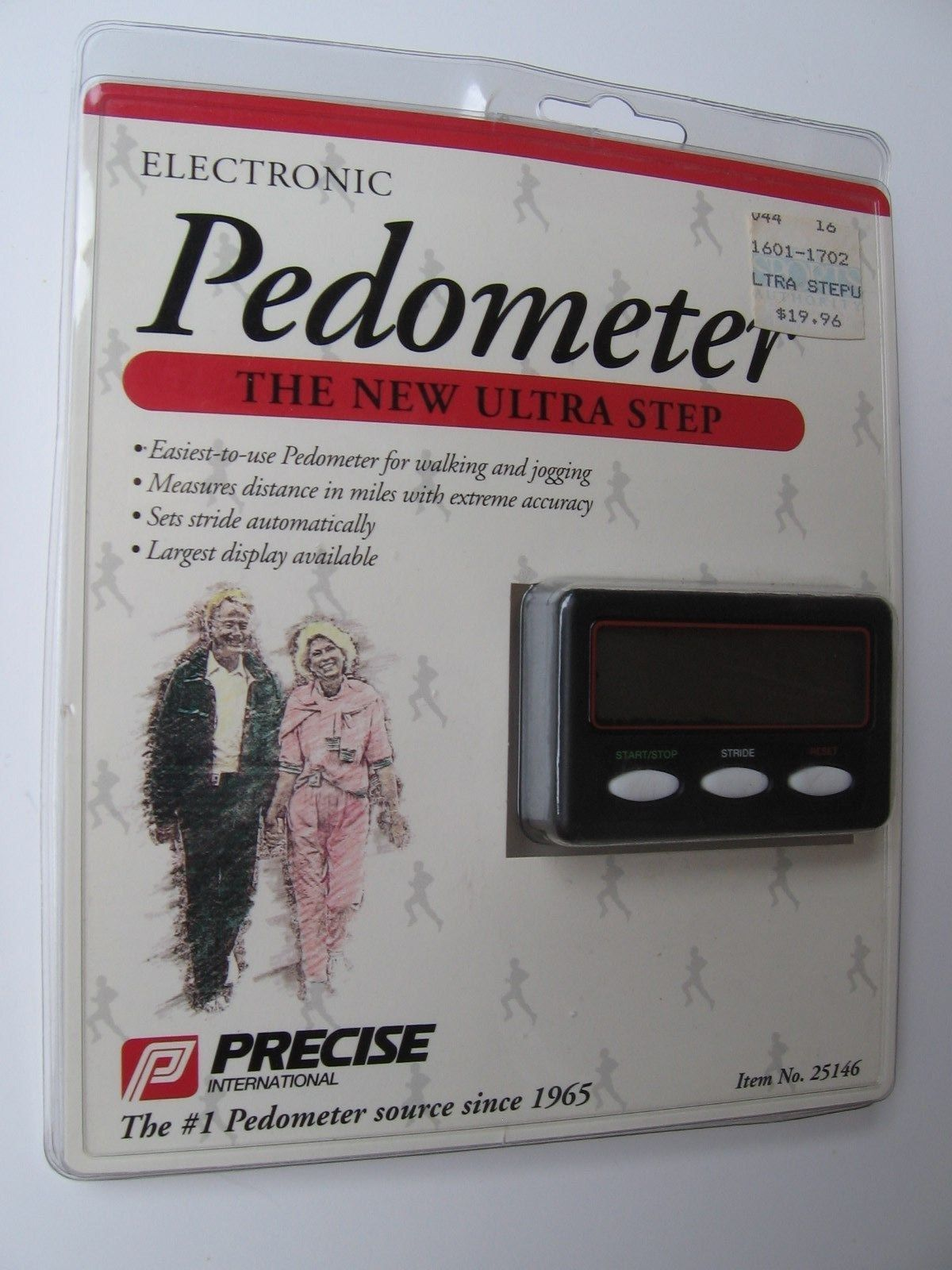 Electronic Pedometer #25146 Precise International EASY To Use Walking Jogging