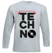 Techno Vinyl 2 - New Cotton Grey Tshirt - $26.93