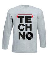 TECHNO VINYL 2 - NEW COTTON GREY TSHIRT - $20.84