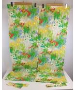 """VTG 34"""" X 46"""" Mid Century Mod Hippie Floral Flower Curtains RV Window Decor - $22.81"""