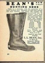 1937 Print Ad Bean's Hunting Shoes L.L. Bean Inc Freeport,Maine - $9.46