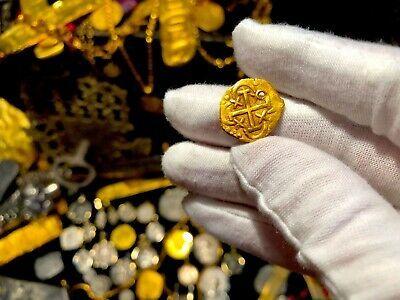 PERU 1 ESCUDO 1736 PENDANT NECKLACE PIRATE GOLD COINS JEWELRY TREASURE DOUBLOON image 7