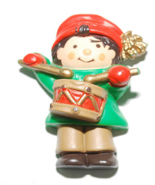 "Primary image for Vintage Christmas Holiday Refrigerator Magnet Hallmark Little Drummer Boy 1.5"" T"