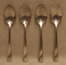4 Oneida Community Queen BessTeaspoons Spoon Silverware Flatware - $10.84