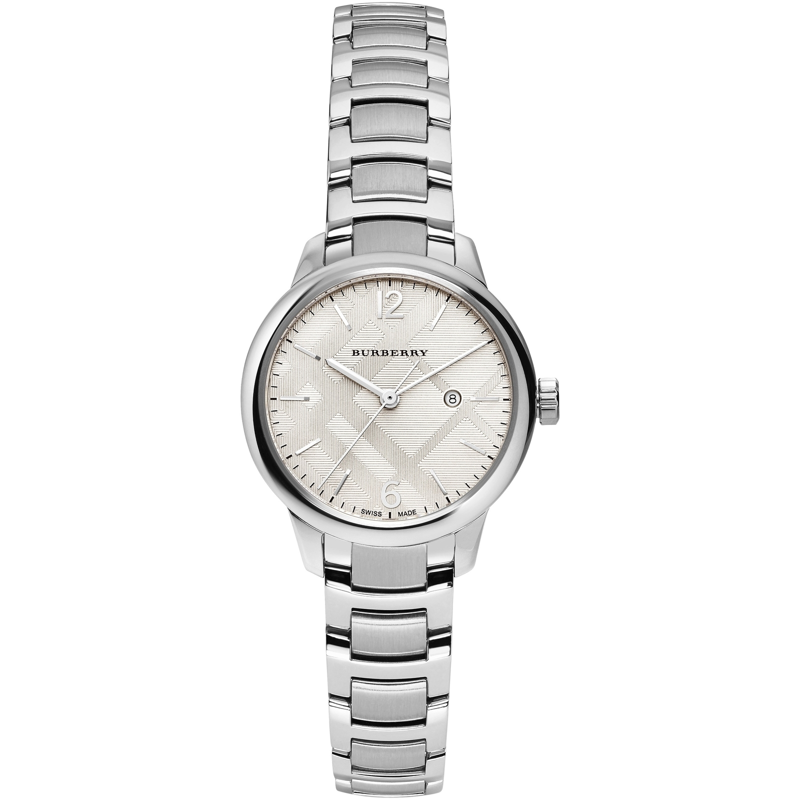"Primary image for Burberry BU10108 Women's ""Classic Round"" Swiss Silver Tone Watch 32mm"
