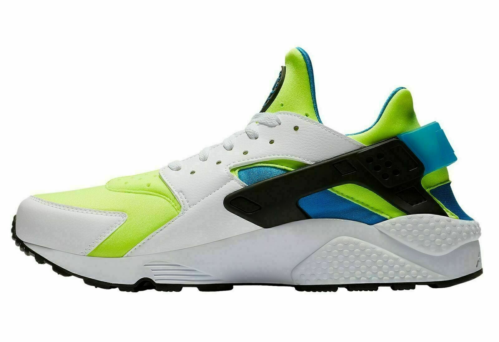 MEN'S NIKE AIR HUARACHE RUN SE SHOES white volt black blue AT4254 101 image 2