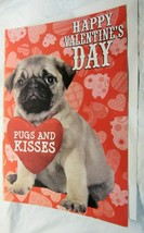 """Giant Valentine's Day Card Pug 16""""x24"""" """"PUGS AND KISSES"""" - $2.99"""