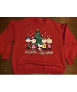 Vintage Tultex Peanuts Snoopy Holiday Xmas Season Sweatshirt Size Large ... - $42.75